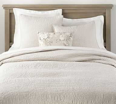 Belgian Flax Linen Hand Stitched Quilt, King/Cal King, Flax - Pottery Barn
