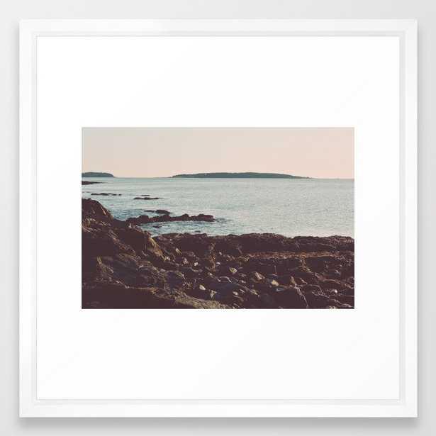 Low Tide - Ocean Art Framed Art Print by Olivia Joy St.claire - Cozy Home Decor, - Vector White - MEDIUM (Gallery)-22x22 - Society6