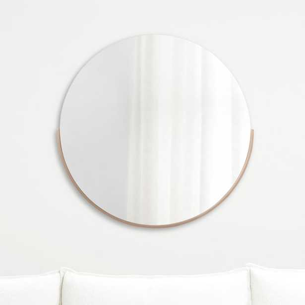 Gerald Small Round Rose Gold Wall Mirror - Crate and Barrel