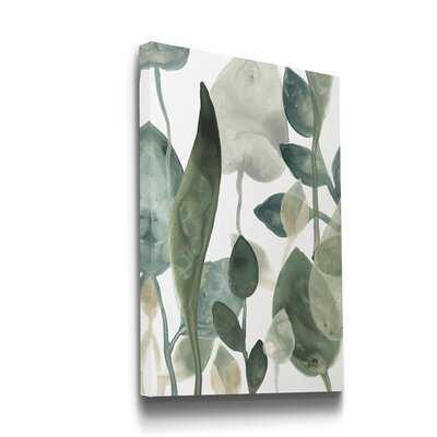 'Water Leaves III' - Wrapped Canvas Painting Print - Wayfair