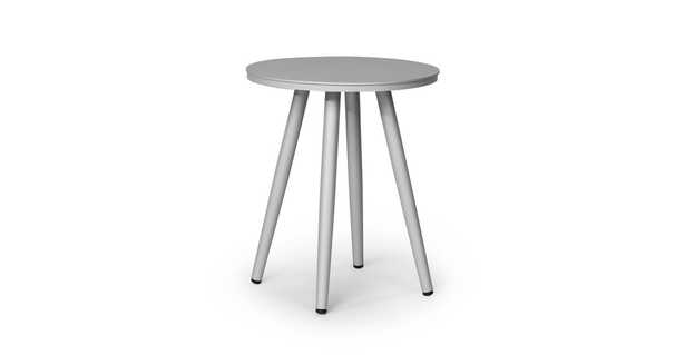"""Halden Light Gray 16"""" Round Side Table - Article"""