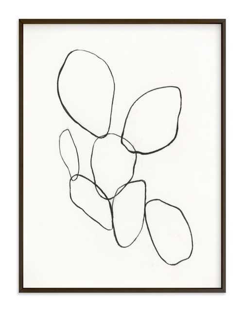 Cactus Line Drawing Art Print - Minted