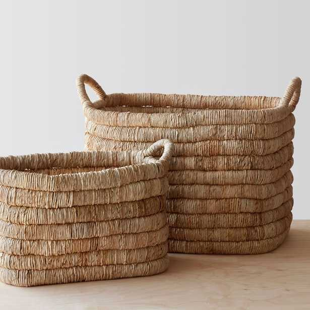 Merapi Storage Baskets - Light - Set of Two - 1 ea. By The Citizenry - The Citizenry
