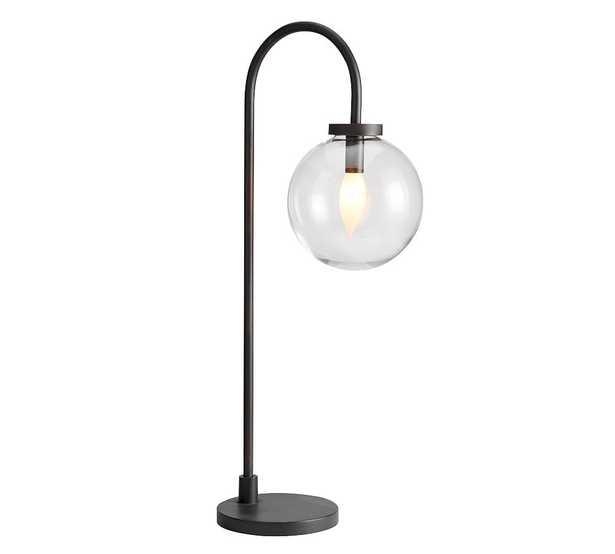 Claremont Glass Table Lamp, Globe, Bronze - Pottery Barn