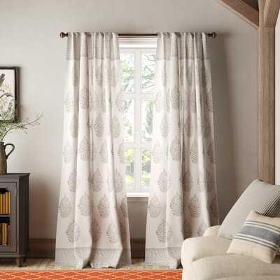 Bodenhamer Floral Room Darkening Thermal Rod Pocket Curtain Panels - Birch Lane
