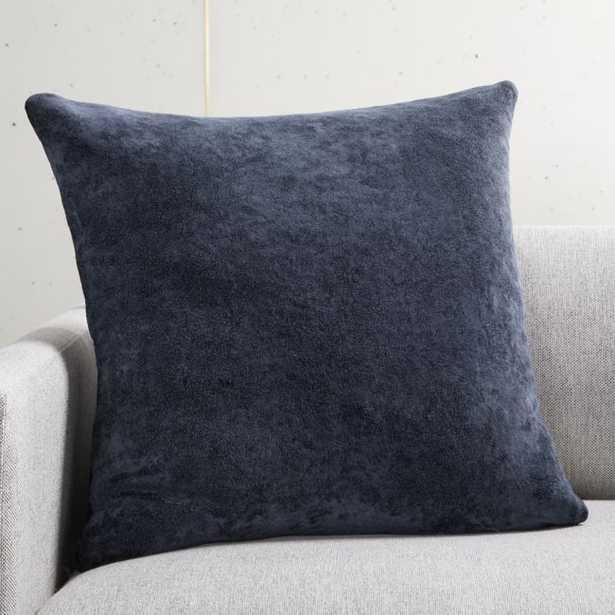 "20"" Strauss Navy Pillow with Down-Alternative Insert - CB2"