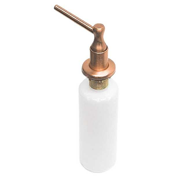 Westbrass Soap and Lotion Dispenser in Antique Copper - Home Depot
