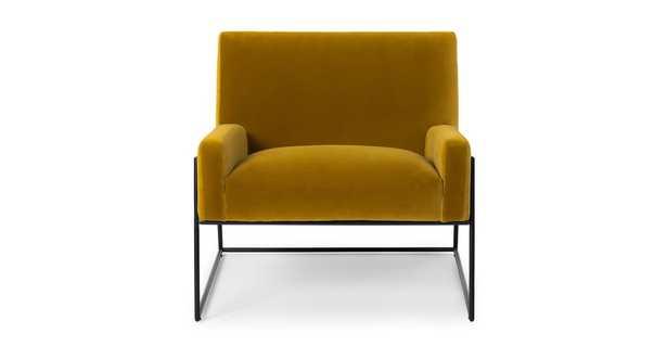 Regis Yarrow Gold Lounge Chair - Article