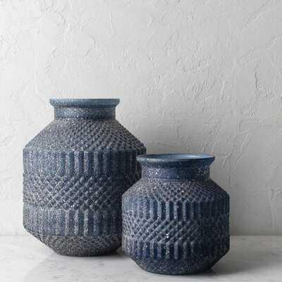 "Avesbury Navy 11.25"" Glass Table Vase - Wayfair"