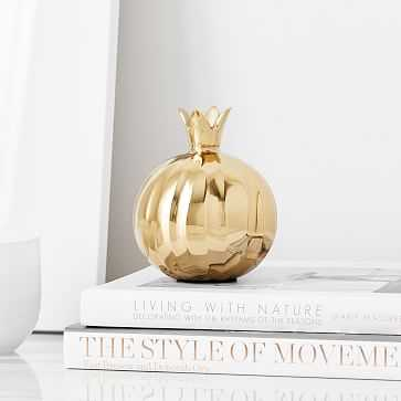 Pomegranate Object, Brass - West Elm