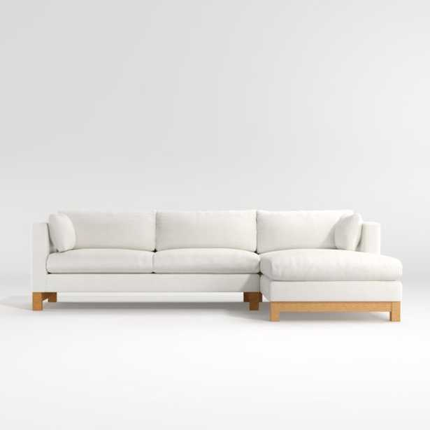 Pacific 2-Piece Chaise Sectional with Wood Legs - Crate and Barrel