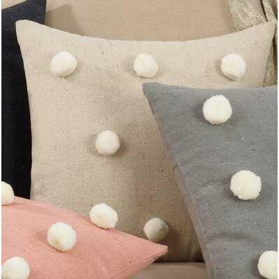 Kettler Pom Pom Cotton Throw Pillow, Cover Only - Wayfair