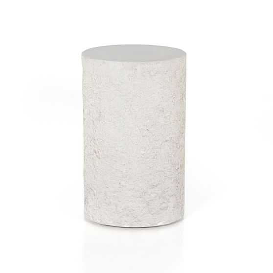 Rounded Outdoor Concrete Side Table - West Elm