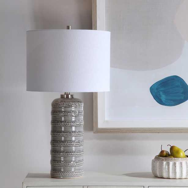 Alenon Light Gray Table Lamp - Hudsonhill Foundry