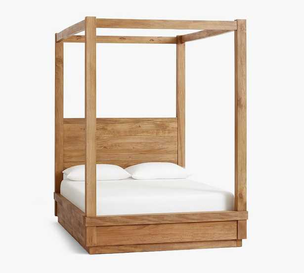 Oakleigh Wood Canopy Bed, King, Heirloom Wheat - Pottery Barn