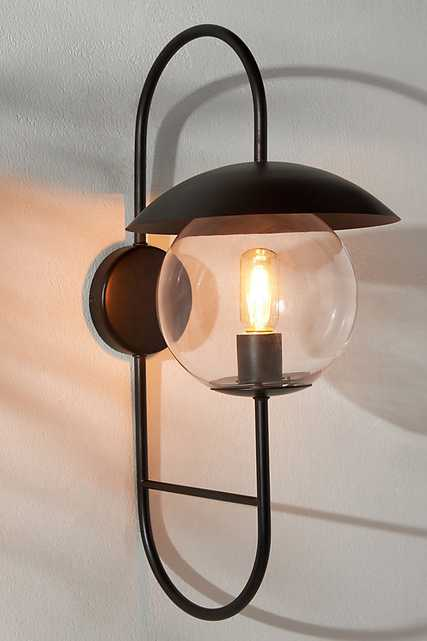 Pierce Outdoor Sconce By Anthropologie in Black - Anthropologie