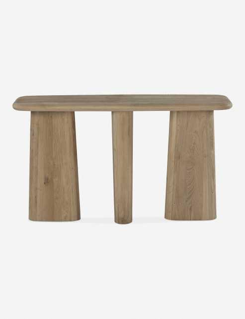 Nera Console Table, Natural - Lulu and Georgia