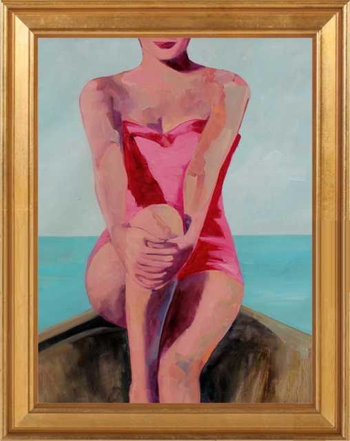 Woman in a Boat by T. S. Harris for Artfully Walls - Artfully Walls