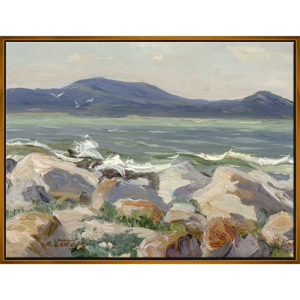 Soicher Marin 'Sea Landscape' Framed Painting on Canvas Frame Color: Gold - Perigold