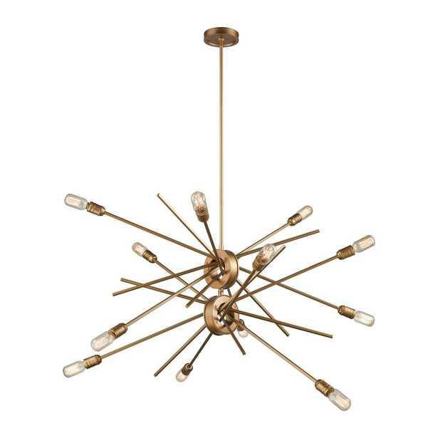 Titan Lighting Xenia 12-Light Matte Gold Chandelier - Home Depot