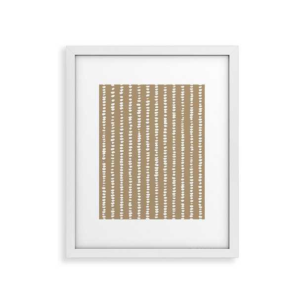 "Simple Hand Drawn Pattern X by Alisa Galitsyna - Modern Framed Art Print White 11"" x 14"" - Haldin"