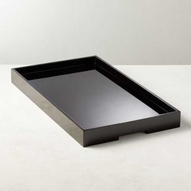 Hi-Gloss Black Rectangle Tray - CB2
