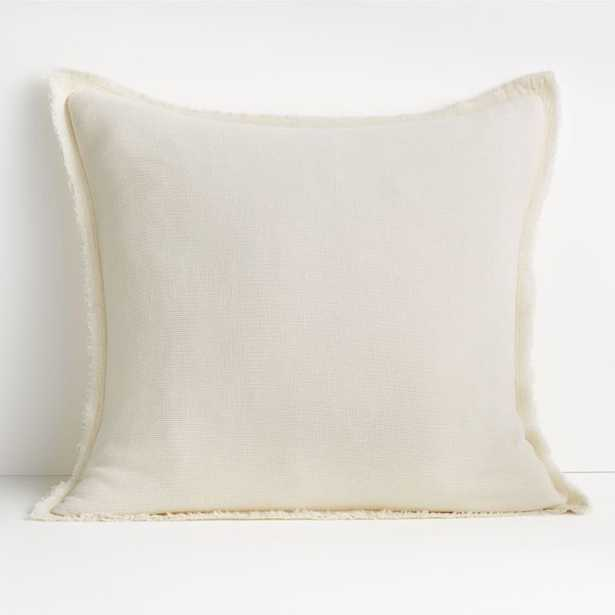 """Olind 23"""" Cream Pillow with Down-Alternative Insert - Crate and Barrel"""