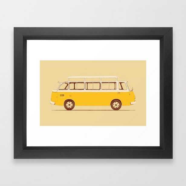 Yellow Van Ii Framed Art Print by Florent Bodart / Speakerine - Vector Black - X-Small-10x12 - Society6