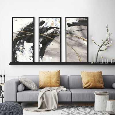 Gilded Arcs II - 3 Piece Floater Frame Print on Canvas - Wayfair