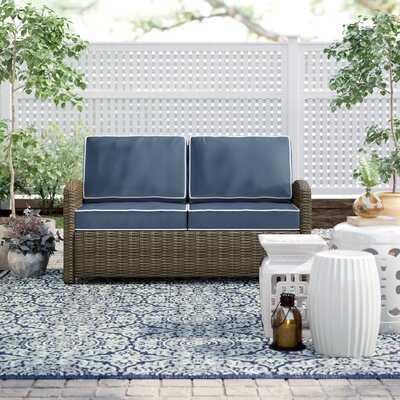 Lawson Wicker Loveseat with Cushions - Wayfair