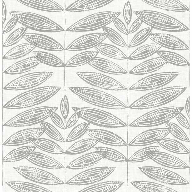 NuWallpaper Grey Terrain Peel and Stick Wallpaper, Greys - Home Depot