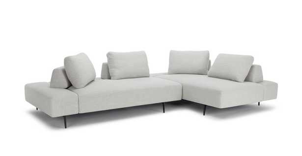 Divan Mist Gray Right Sectional - Article