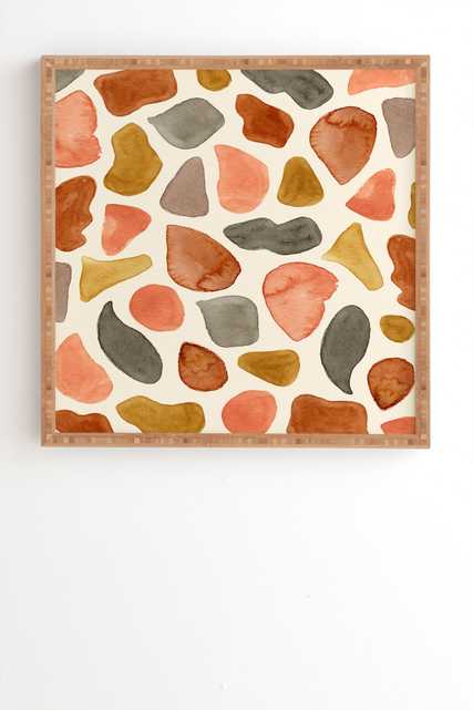 """Abstract Animal Print by Pauline Stanley - Framed Wall Art Bamboo 14"""" x 16.5"""" - Wander Print Co."""
