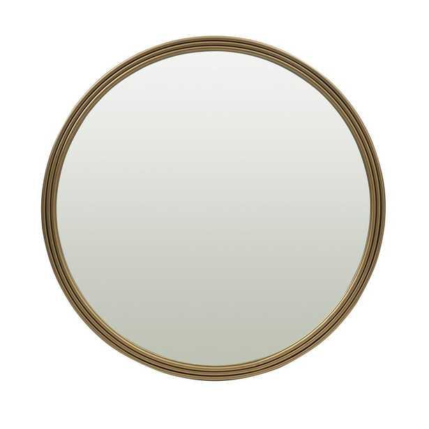 Utopia Alley Bathroom Round Mirror, Wall-Mounted Bathroom Mirror, 24''Modern Gold Metal Frame - Home Depot