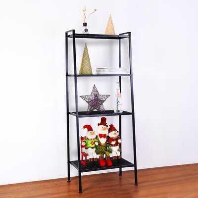 "Jolin 58"" H x 10"" W Metal Leaning Ladder Shelf Bookcase Storage - Wayfair"