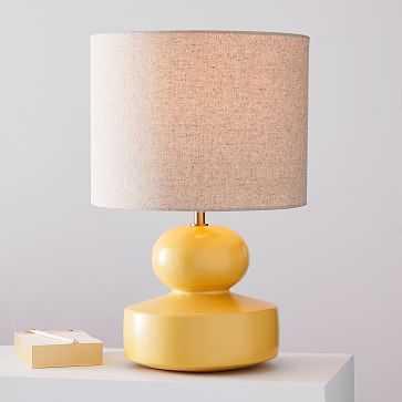 Modern Totem Table Lamp, Small, Lemon Drop - West Elm