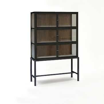 Curio Display Cabinet- Black - West Elm