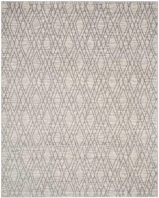 Tunisia Area Rug, Ivory & Light Gray, 9' x 12' - Arlo Home
