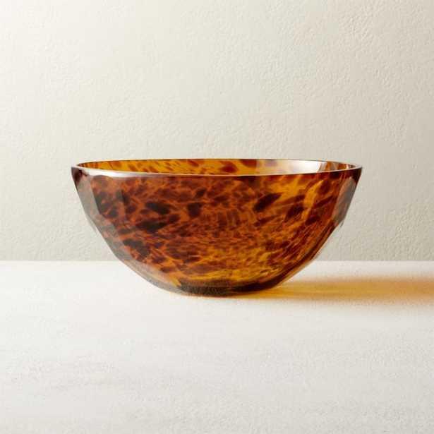 Franklin Brown Glass Bowl - CB2
