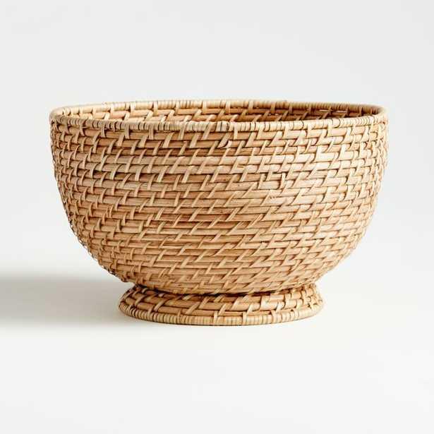 Artesia Natural Large Rattan Bowl - Crate and Barrel