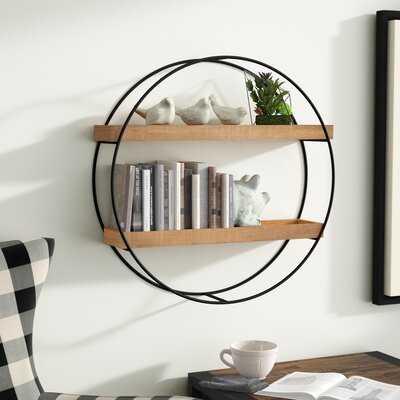Maisha Round Metal and Wood Wall Shelf - Wayfair