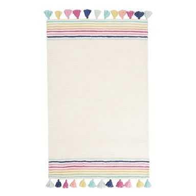 Rainbow Border Rug, 5'x8', Multi - Pottery Barn Teen