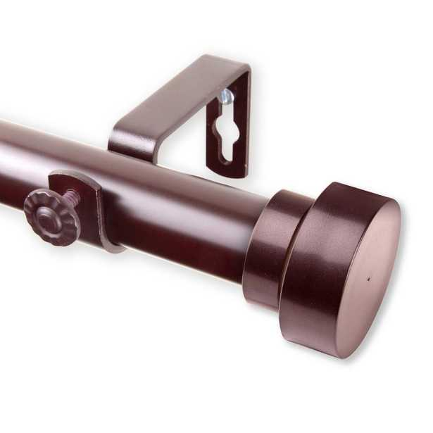 Rod Desyne Bonnet 66 in. - 120 in. Curtain Rod in Mahogany - Home Depot