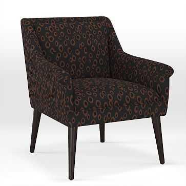 Button Tufted Chair, Print, Leopard Spots - West Elm