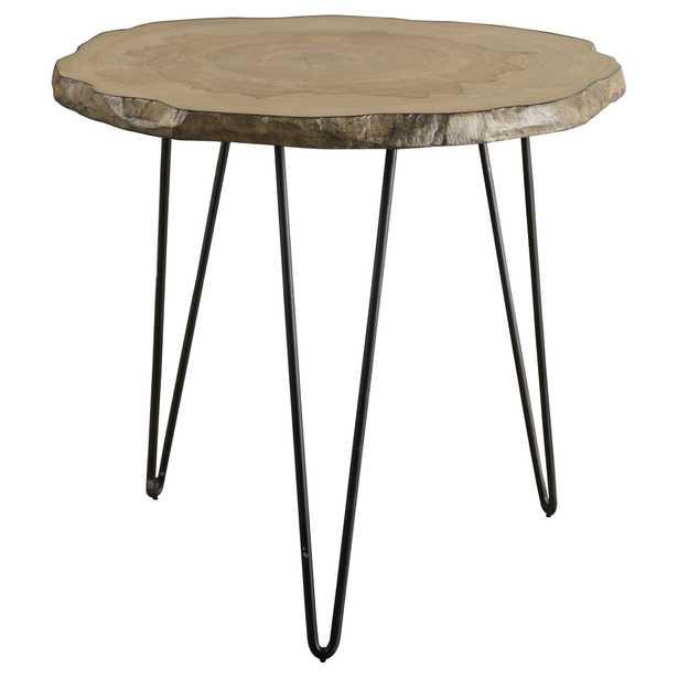 Runay Wood Slab Side Table - Hudsonhill Foundry