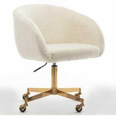 Darius Melinda Boucle Rolling Conference Chair - Wayfair