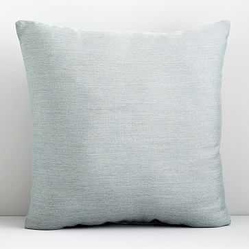 """Sunbrella Indoor/Outdoor Cast Pillow, 20""""x20"""", Mist, Set of 2 - West Elm"""