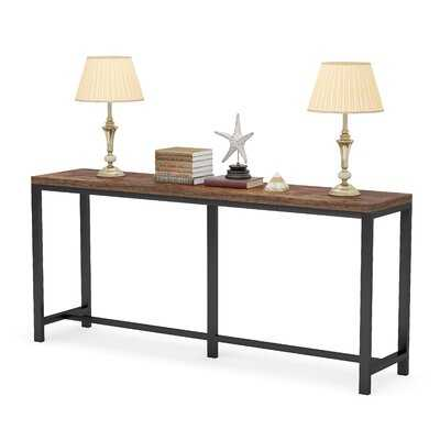 70.9 Inch Extra Long Sofa Table, Console Table Behind Sofa Couch, Narrow Long Entryway Table - Wayfair