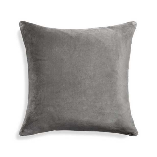 "Regis Grey 20"" Pillow Cover - Crate and Barrel"