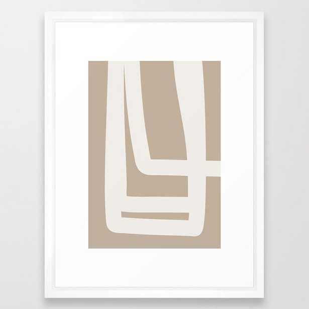 Neutral Abstract 5A Framed Art Print - Society6